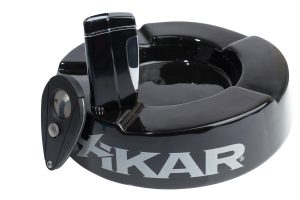 Xikar Ashtray Lighter and Cutter Combo Gift Set (Black)-0
