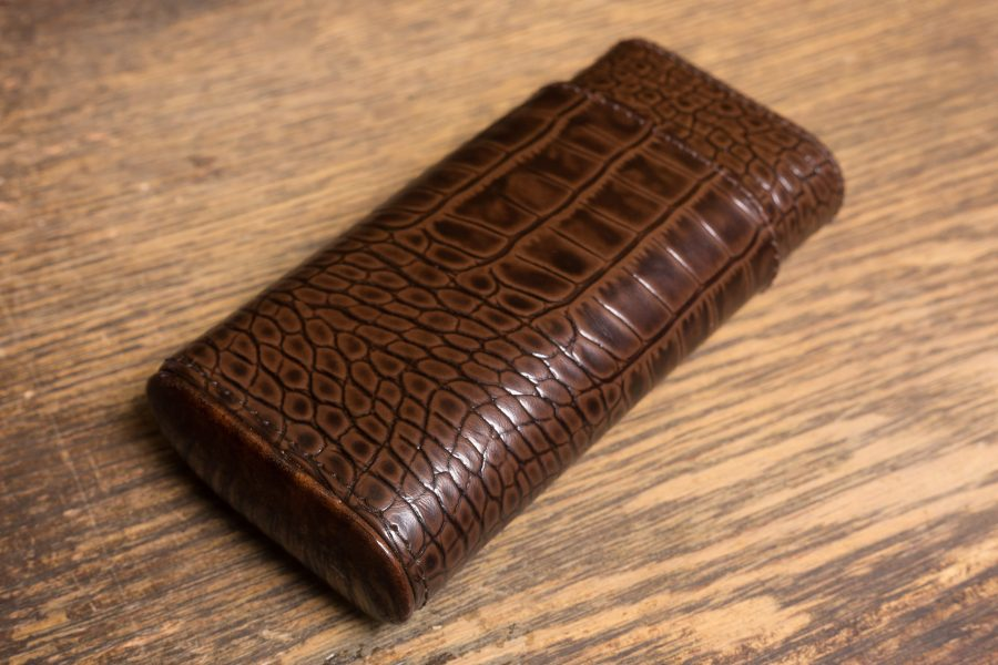 Brizard & Co. Cigar Case Crocodile Tobacco-0