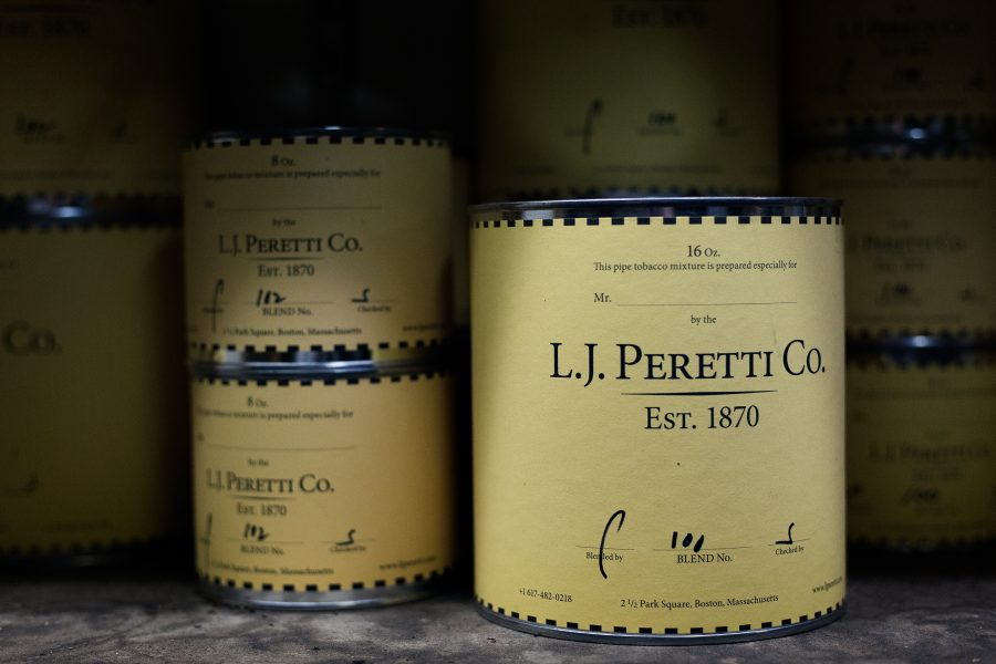 The famous L.J. Peretti Paint can which has been the packaging choice our blends for many years.